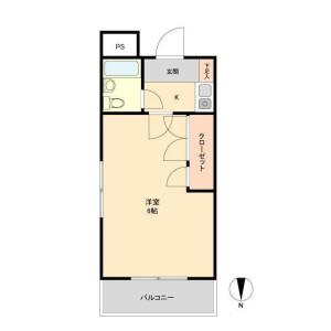 1K Mansion in Okusawa - Setagaya-ku Floorplan