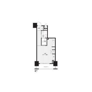 1R Mansion in Motoasakusa - Taito-ku Floorplan