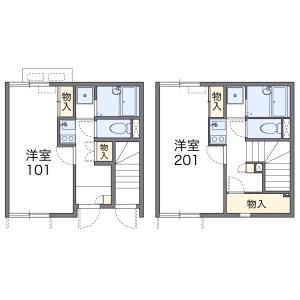 1K Apartment in Daimoncho - Saitama-shi Omiya-ku Floorplan