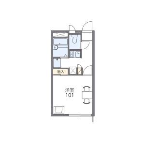 1K Apartment in Ojidai - Sakura-shi Floorplan