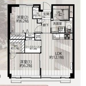 文京区本郷-2LDK{building type} 楼层布局