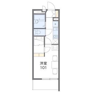 1K Mansion in Ryuzenjicho - Hamamatsu-shi Naka-ku Floorplan