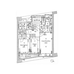 2LDK Mansion in Shimomeguro - Meguro-ku Floorplan