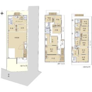 Whole Building {building type} in Higashihorikiri - Katsushika-ku Floorplan