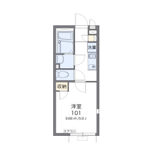 1K Apartment in Sakurajosui - Setagaya-ku Floorplan