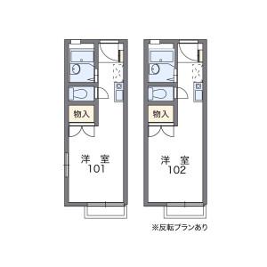 1K Apartment in Komatsuricho - Kishiwada-shi Floorplan
