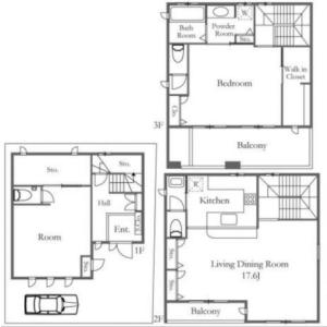 2SLDK House in Sengoku - Bunkyo-ku Floorplan