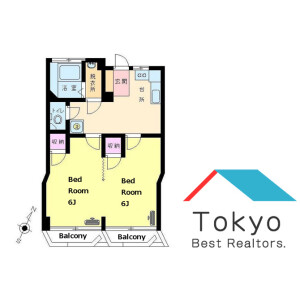 2DK Mansion in Shinsencho - Shibuya-ku Floorplan