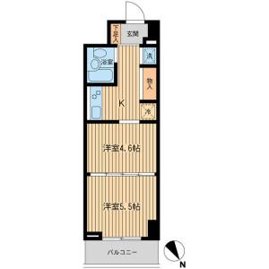 2K Mansion in Yamashitacho - Yokohama-shi Naka-ku Floorplan