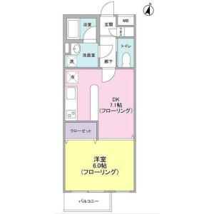 1DK Mansion in Kakinokizaka - Meguro-ku Floorplan