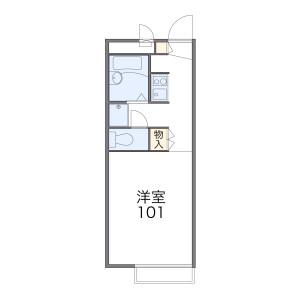 1K Apartment in Kizoro - Kawaguchi-shi Floorplan