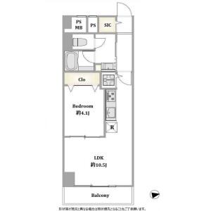 台東區西浅草-1DK公寓大廈 房間格局