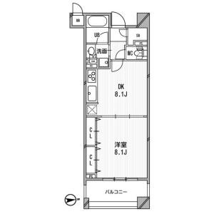 1DK Mansion in Kandaogawamachi - Chiyoda-ku Floorplan