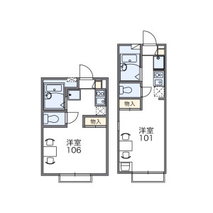 1K Apartment in Kitakoiwa - Edogawa-ku Floorplan