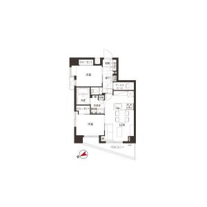 2SLDK {building type} in Heiwadai - Nerima-ku Floorplan