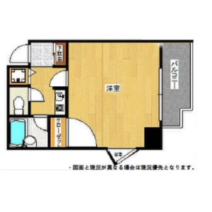 1K {building type} in Shinwamachi - Fukuoka-shi Hakata-ku Floorplan