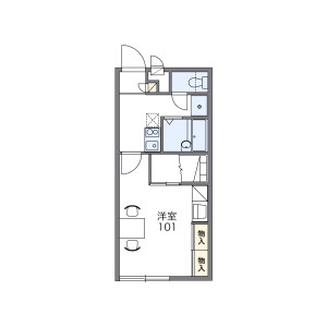 1K Apartment in Takasucho - Tsu-shi Floorplan