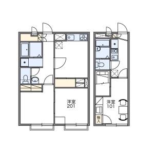 1K 아파트 in Shakujiidai - Nerima-ku Floorplan