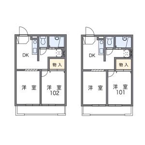2DK Mansion in Fujiwara - Funabashi-shi Floorplan