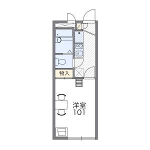 1K Apartment in Nishitsuruma - Yamato-shi Floorplan