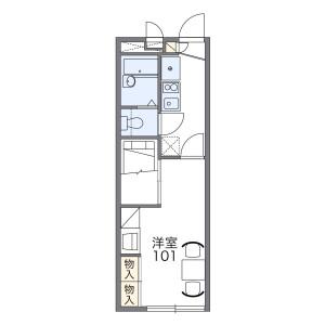 1K Apartment in Nagao - Fukuoka-shi Jonan-ku Floorplan
