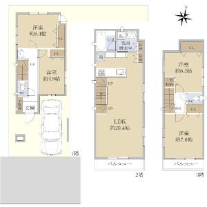 4LDK {building type} in Shakujiimachi - Nerima-ku Floorplan
