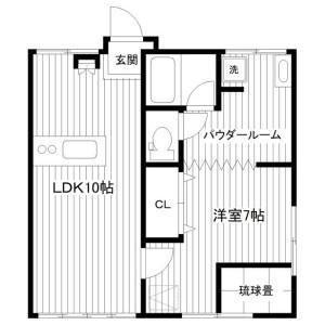 1LDK House in Ooka - Yokohama-shi Minami-ku Floorplan