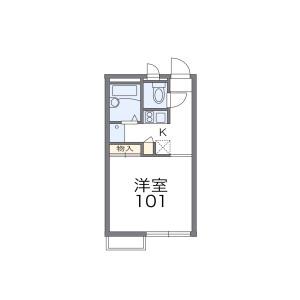 1K Apartment in Nukatacho - Amagasaki-shi Floorplan