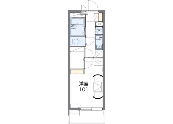 在堺市北区内租赁1K 公寓大厦 的 楼层布局