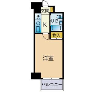 1K {building type} in Owadamachi - Hachioji-shi Floorplan