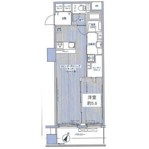 1LDK Mansion in Yutenji - Meguro-ku Floorplan