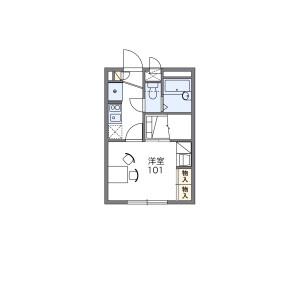 埼玉市浦和區東高砂町-1K公寓 房間格局