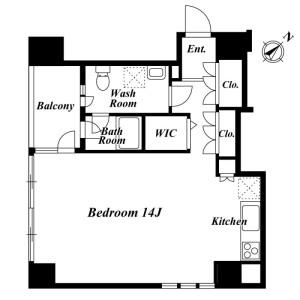 1R Mansion in Shimomeguro - Meguro-ku Floorplan