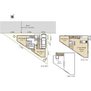 3LDK {building type} in Nishigaoka - Kita-ku Floorplan