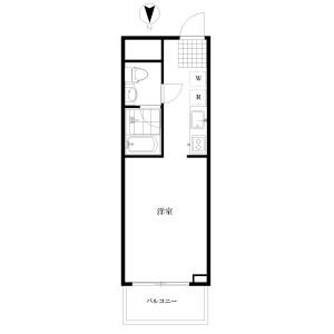 1K {building type} in Sumiyoshicho - Shinjuku-ku Floorplan