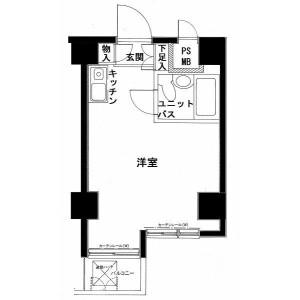 1R Mansion in Koyamadai - Shinagawa-ku Floorplan