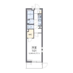 海老名市社家-1K公寓 楼层布局