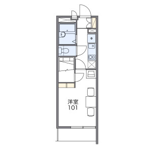 1K Mansion in Kasugacho - Takatsuki-shi Floorplan