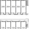 1K Apartment to Rent in Kurume-shi Layout Drawing