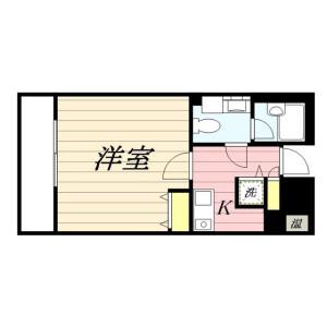 1K Mansion in Matsubara - Setagaya-ku Floorplan