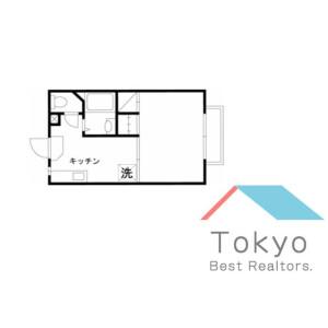 新宿區大久保-1K公寓大廈 房間格局