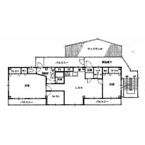 2LDK Mansion in Funakoshicho - Yokosuka-shi Floorplan