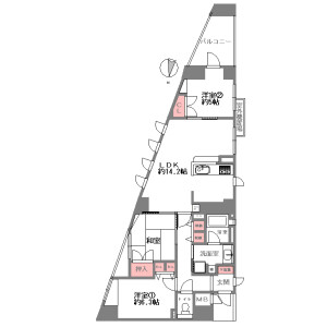 3LDK {building type} in Wakamiyacho - Kyoto-shi Shimogyo-ku Floorplan