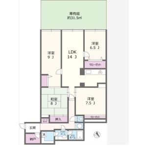 4LDK Mansion in Tamagawa - Setagaya-ku Floorplan