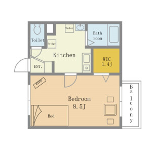 Flex Yokosuka (Max Three person living NEGOTIABLE) - Serviced Apartment, Yokosuka-shi Floorplan