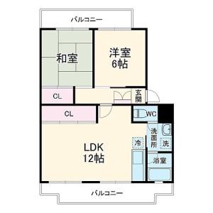 2LDK Mansion in Hakusan - Abiko-shi Floorplan