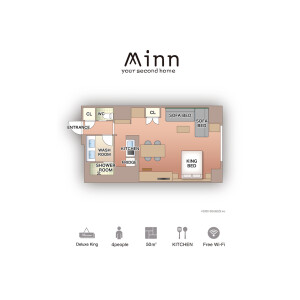 Minn Ueno - Serviced Apartment, Taito-ku Floorplan