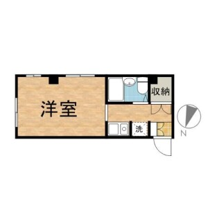 1K Mansion in Denenchofu - Ota-ku Floorplan