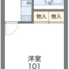1K Apartment to Rent in Saitama-shi Iwatsuki-ku Floorplan