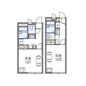 大阪市浪速区 塩草 1K アパート 間取り